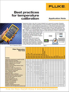 Best practices for temperature calibration