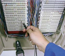 wires in the telecommunication environment