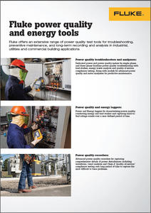 Fluke power quality and energy tools