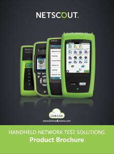 Netscout Handheld Network Test Solutions Product Brochure 2017