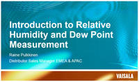 Industrial Measurement of Humidity, Dew Point, CO2, Pressure and Moisture in Oil